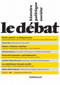 Le débat (revue) : Histoire, politique, société   Nora, Pierre. Éditeur scientifique