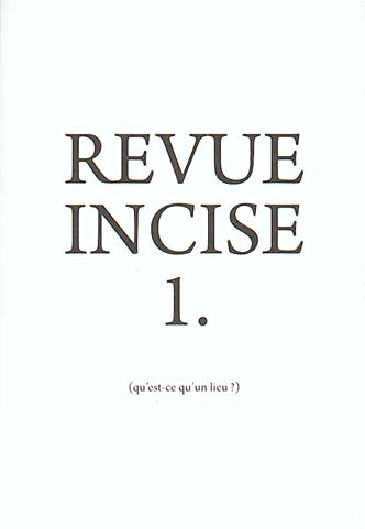 Revue Incise n° 1